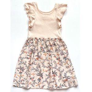 Gap Kids Mixed Media Floral Dress Size S 6-7